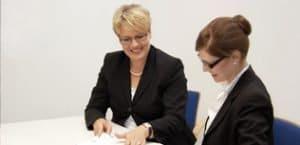 Andrea Foerster bei der Karriereberatung