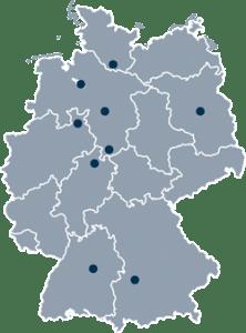 Standorte Deutschlandkarte