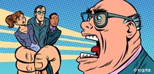 Chef schreit Mitarbeiter an